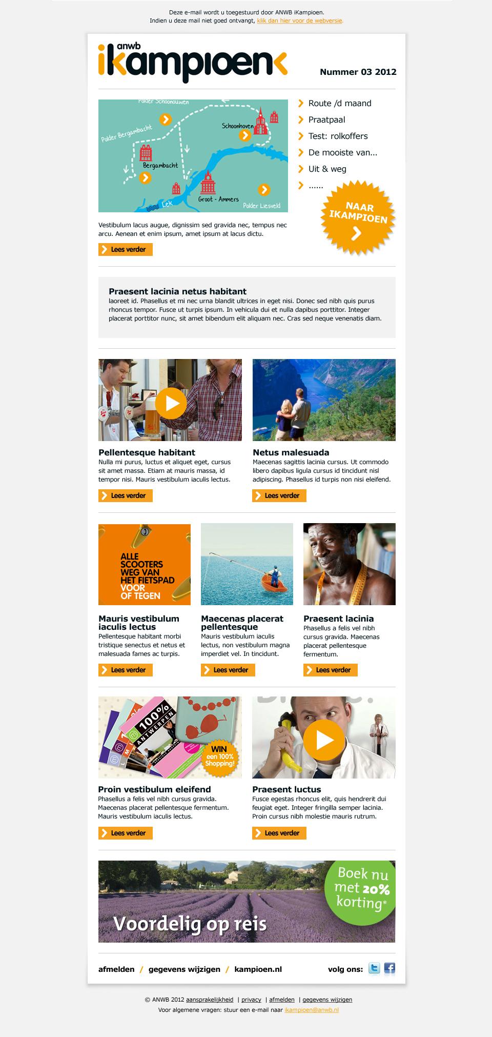 ANWB - E-maildesign
