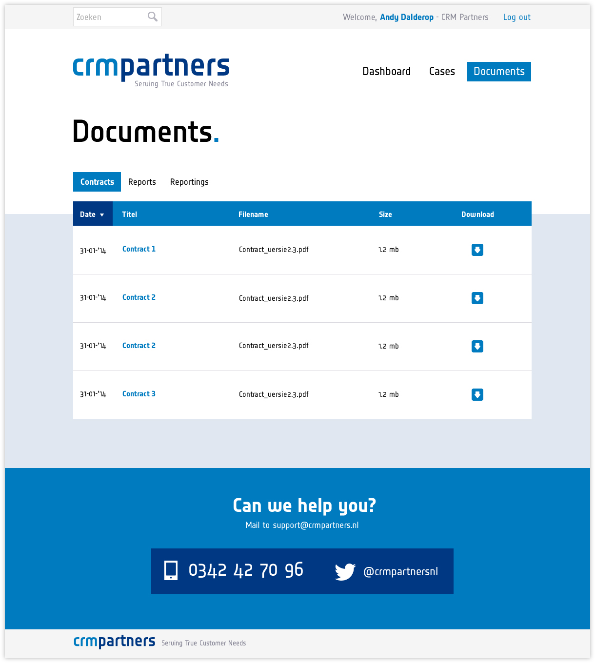 CRM Partners - Klantportaal - documents
