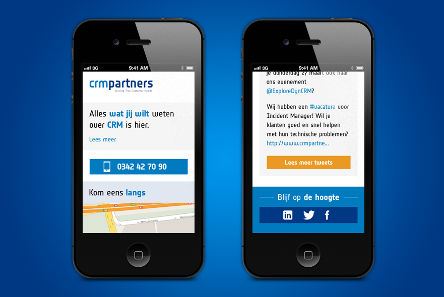 CRM Partners - Mobiele website