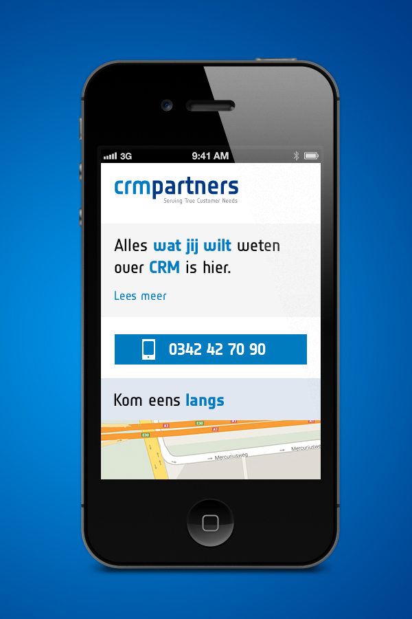 CRM Partners - Mobiele website