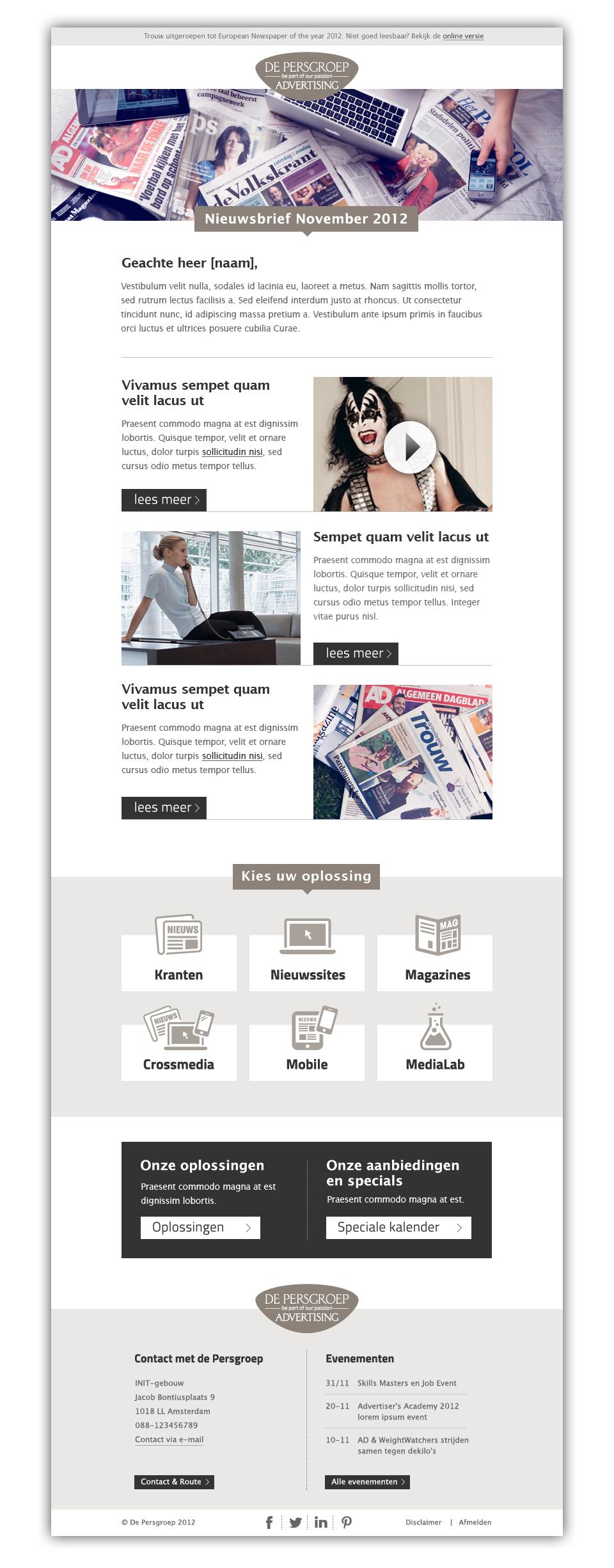 De Persgroep - E-maildesign