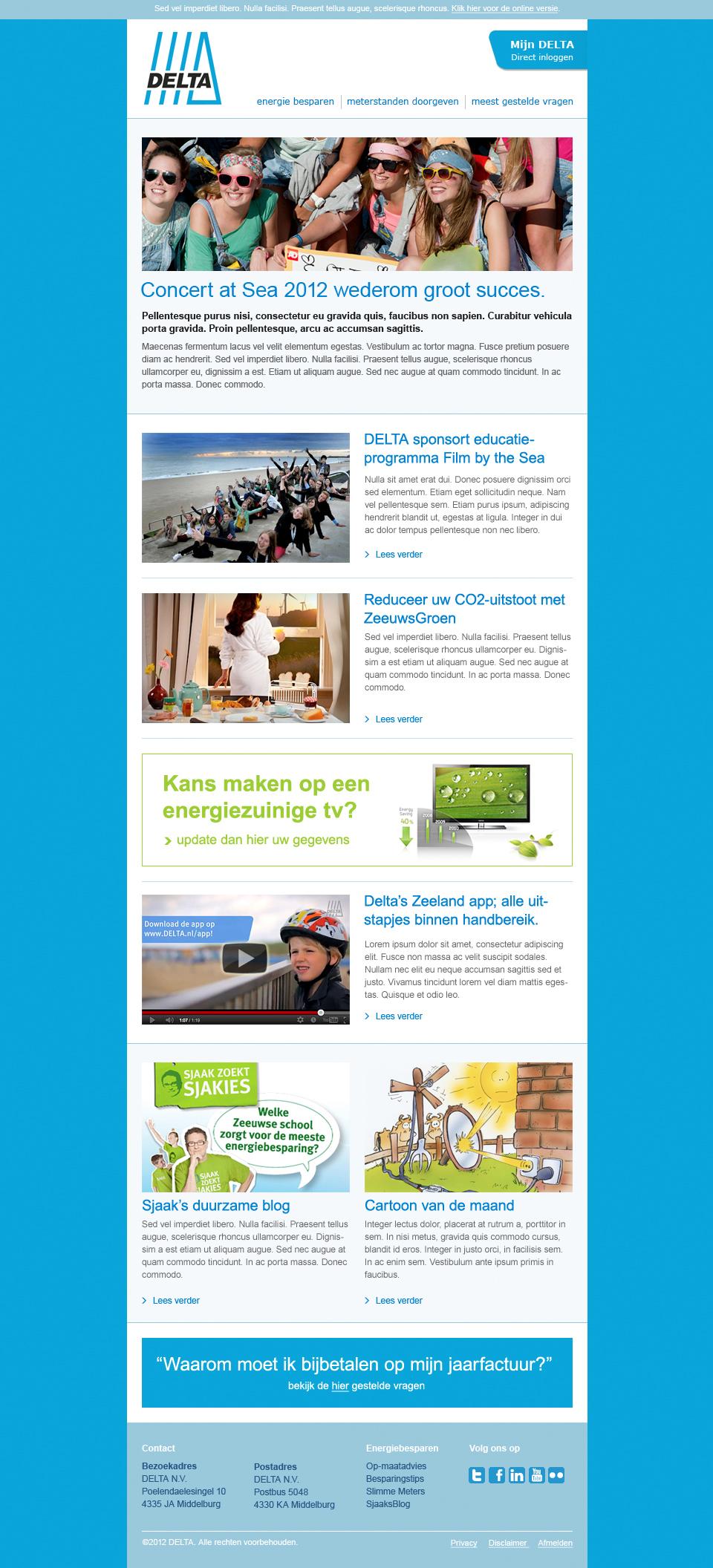 Delta Energie - E-maildesign