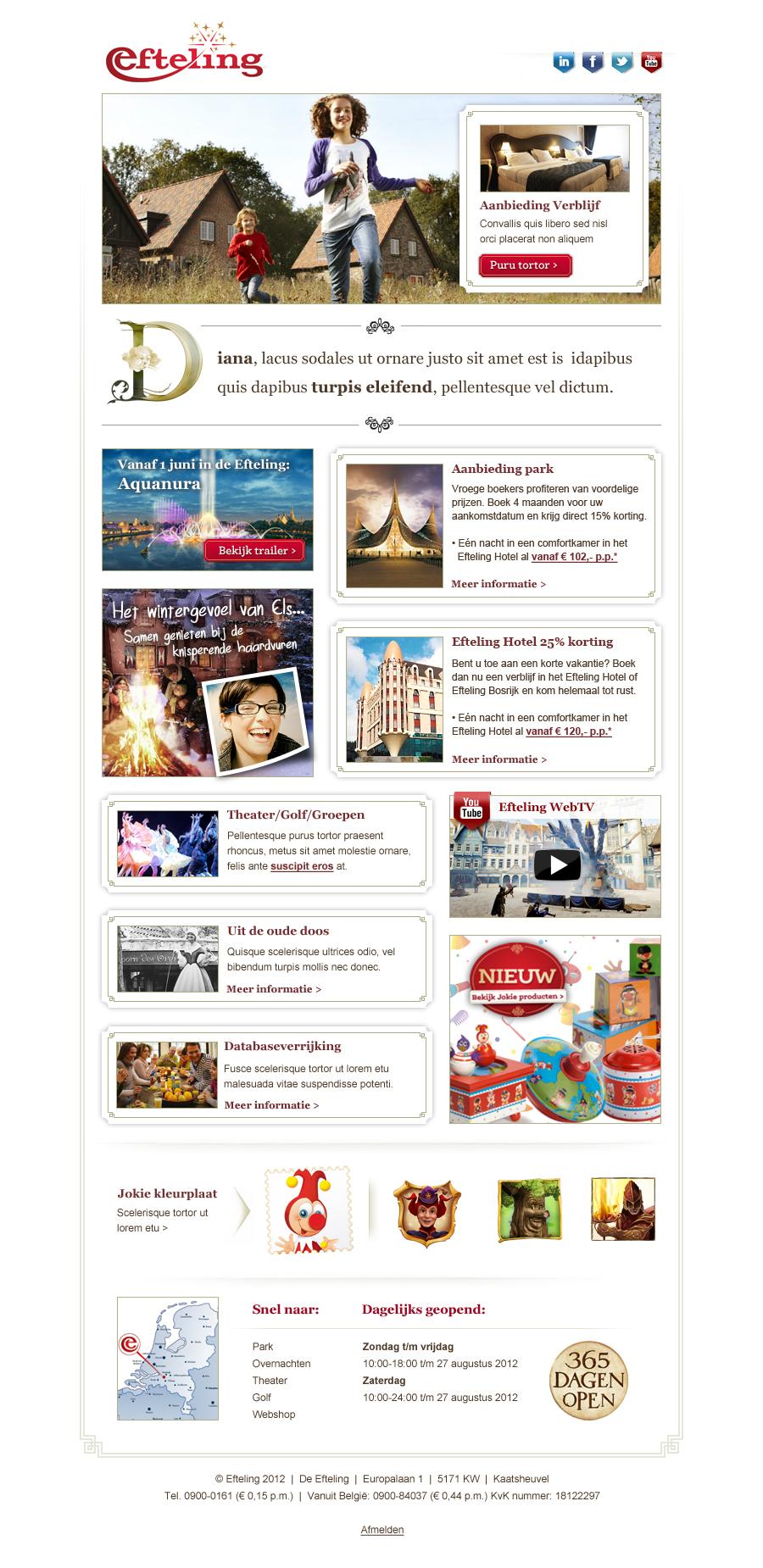 Efteling - E-maildesign