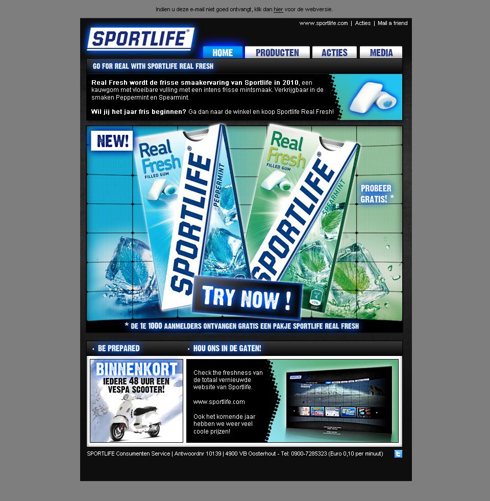 Sportlife - E-maildesign